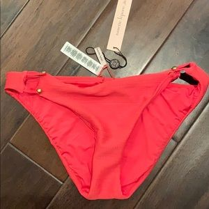 Nanette lepore bikini bottom Sz 4 pink swimwear